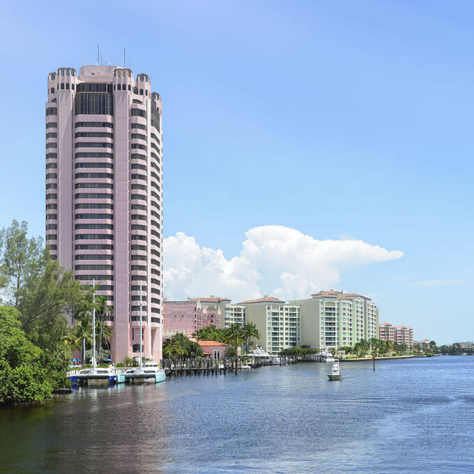 Image of Boca Raton Law Firm ASR Law Firm's hometown in Boca Raton with view of the intercoastal waterway..