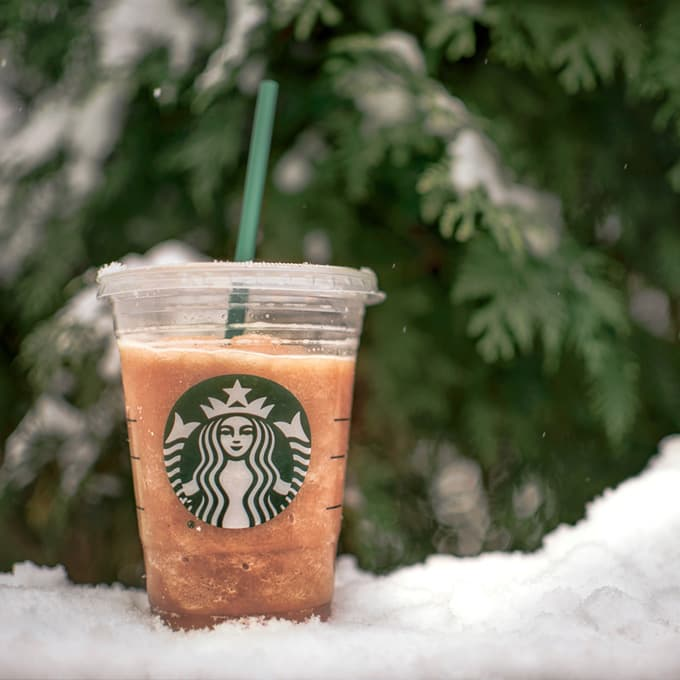 Image of a Starbucks coffee cup that serves as an example as to what a trademark is in the United States.